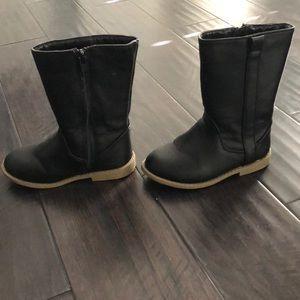 Black toddler knee boots